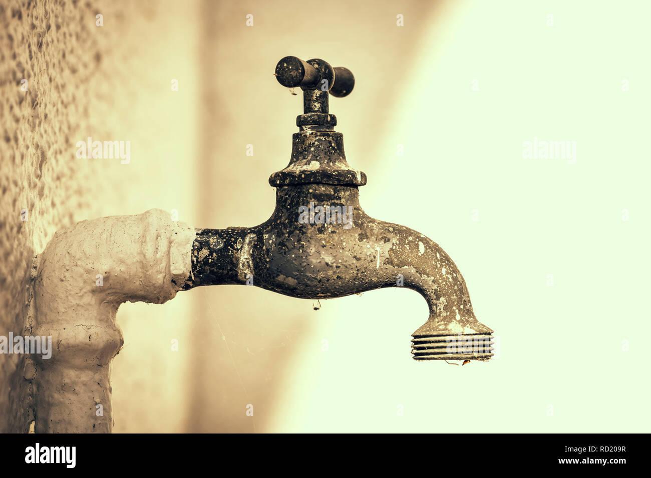 Old tap, Alter Wasserhahn Stock Photo