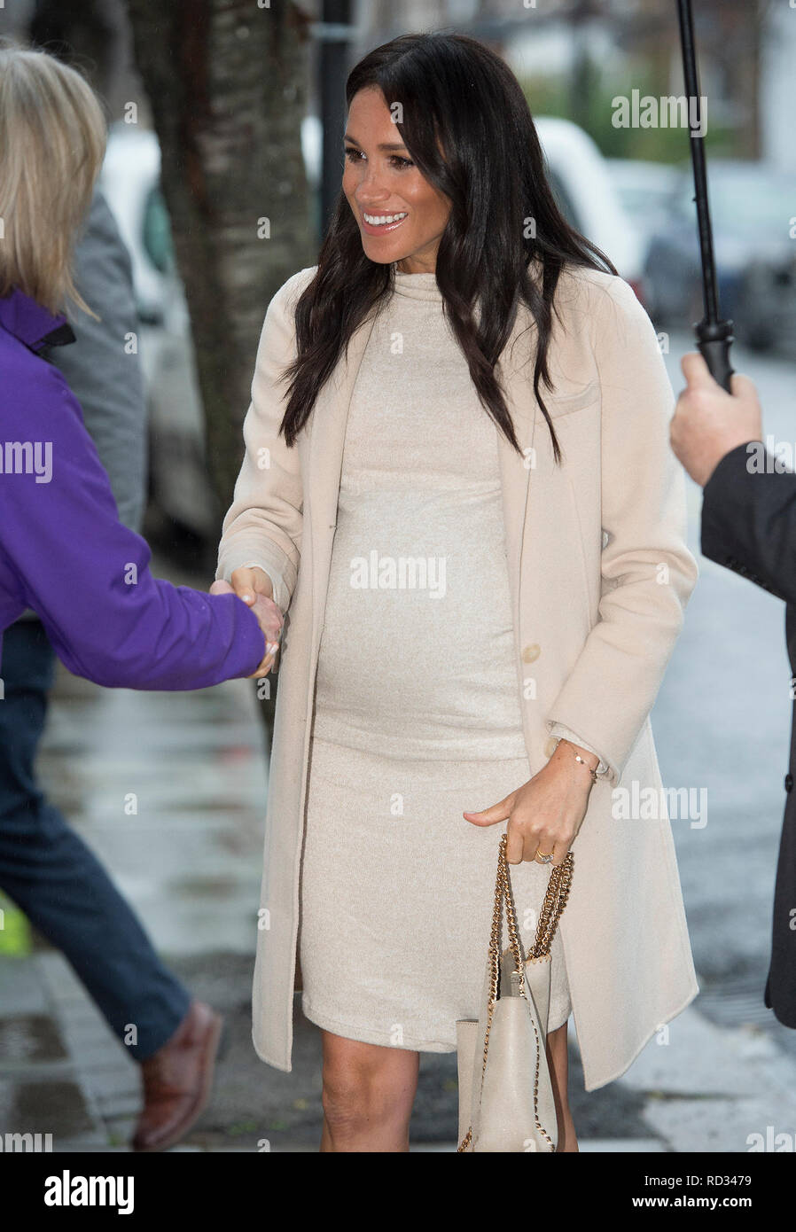 The Duchess of Sussex during a visit to Mayhew, an animal welfare charity she is now supporting as patron, at its offices in north-west London. - Stock Image