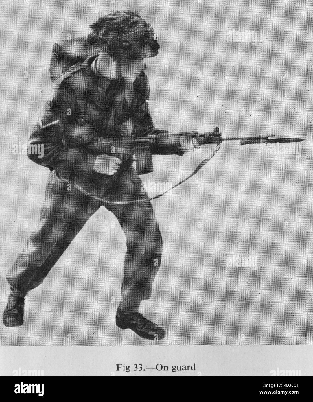 Experimental FAL rifle British army x8e1 - Stock Image