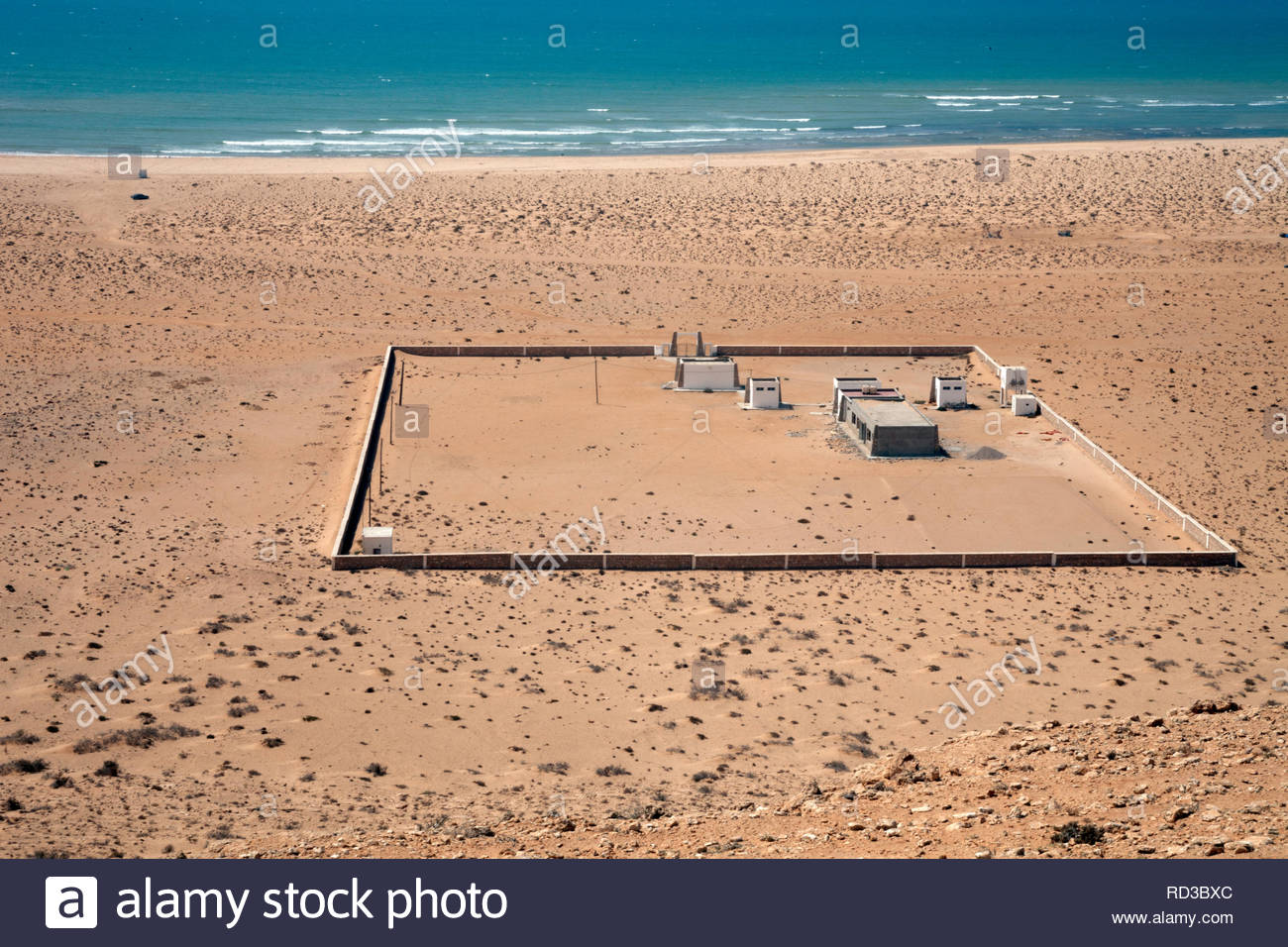 Beach along the Western Sahara coast - Stock Image