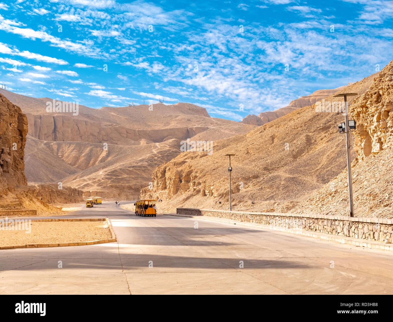 Valley of the Kings the burial place of Egyptian Pharaohs - Stock Image