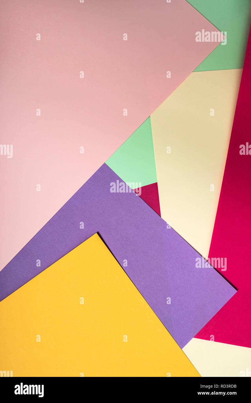 Colorful Polygon Paper Design Pastel Tones Geometric Shapes