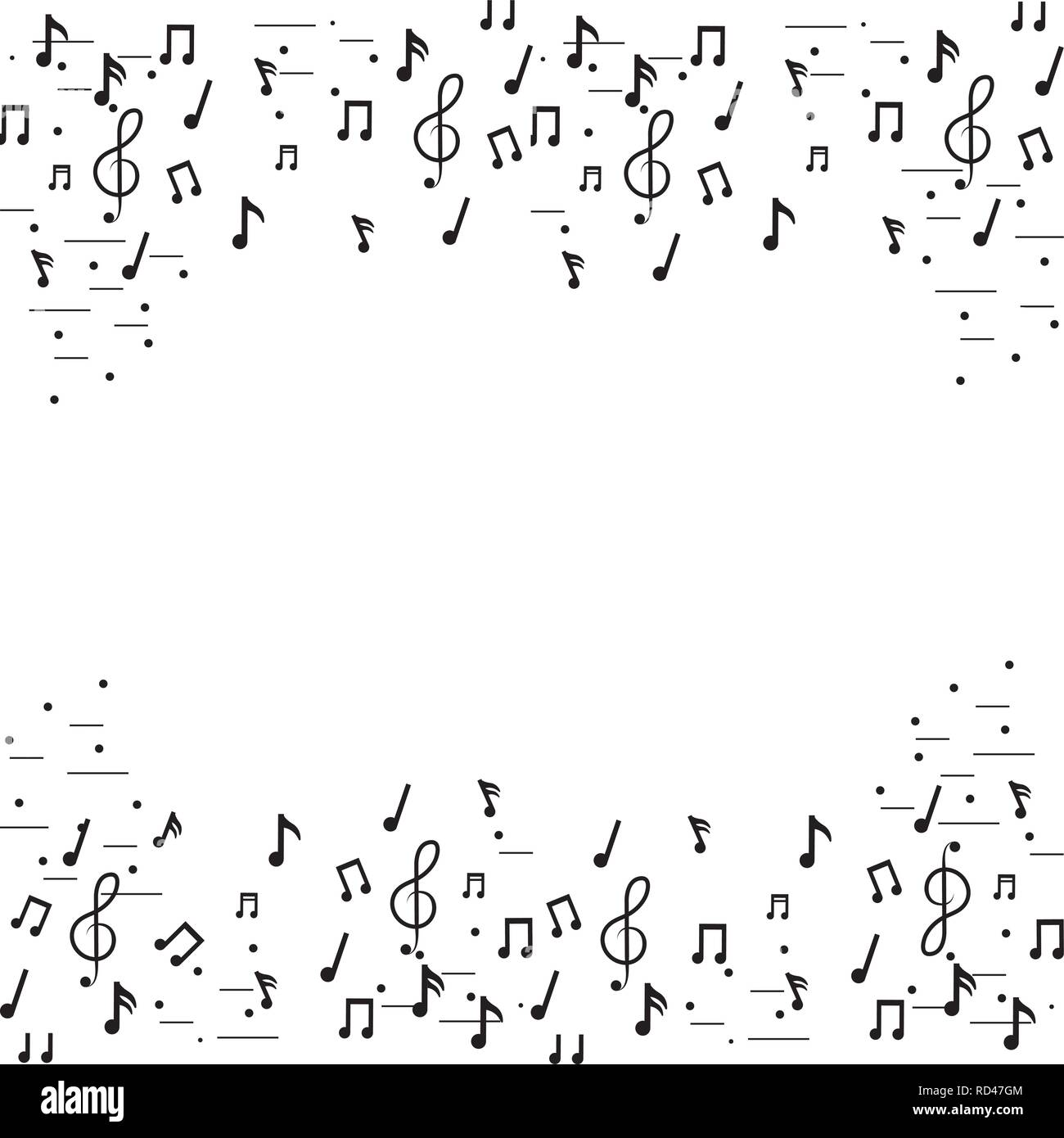 music notes frame - Stock Image