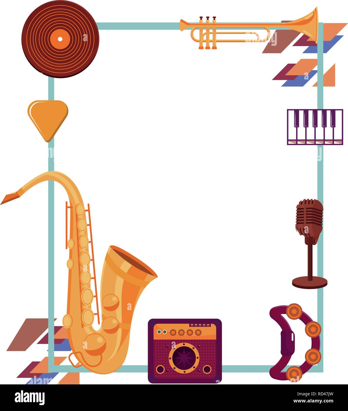 instruments frame design Stock Vector Art & Illustration