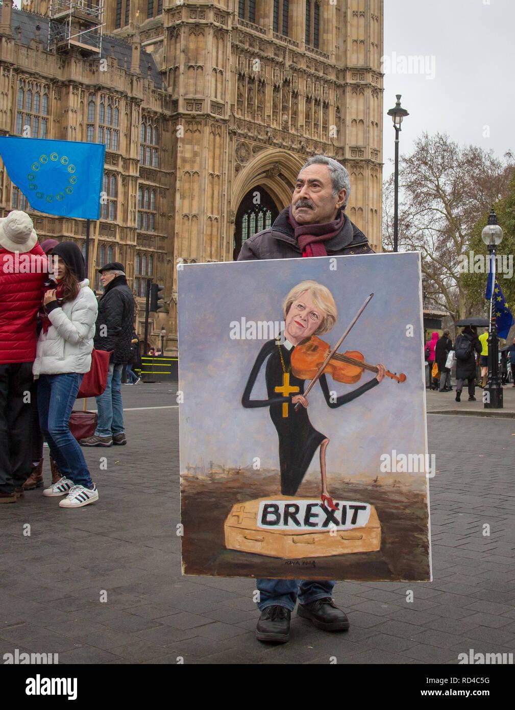 London Uk 16th January 2019 Political Satire Artist Kaya Mar