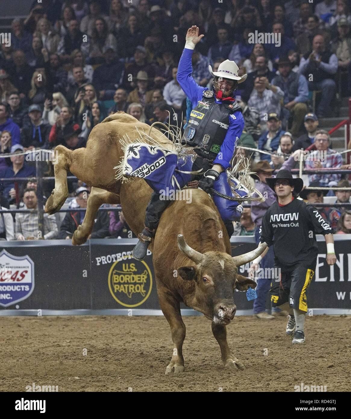 Denver, Colorado, USA  16th Jan, 2019  Bull Rider CODY NANCE