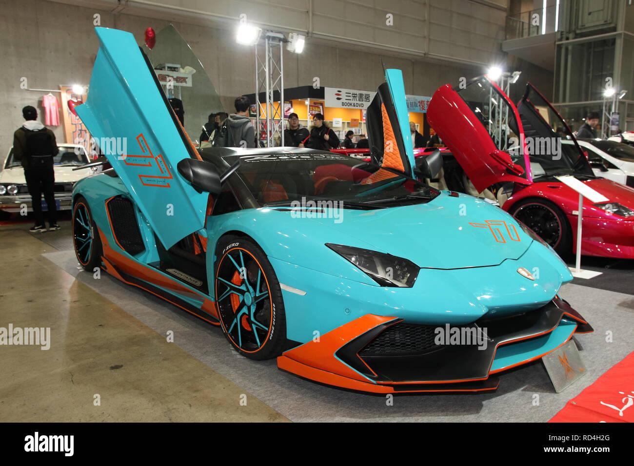 Friday 11th Jan 2019 A Custom Lamborghini Aventador Is Displayed