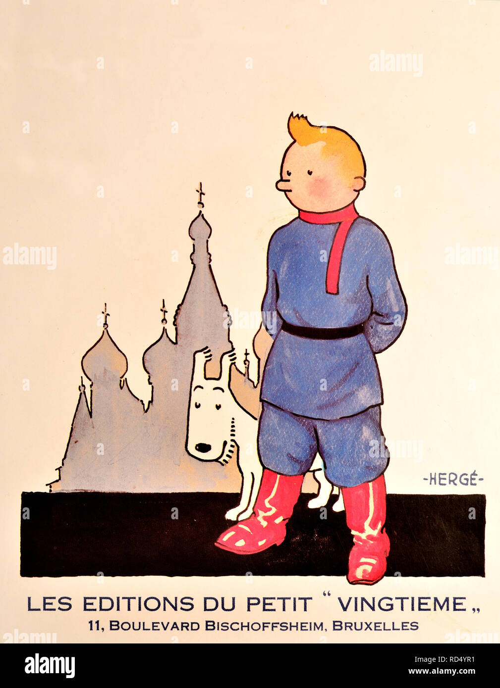 Les Aventures de Tintin au Pays des Soviets / Tintin in the Land of the Soviets (French edition) The first Tintin book, originally published 1930 - re - Stock Image