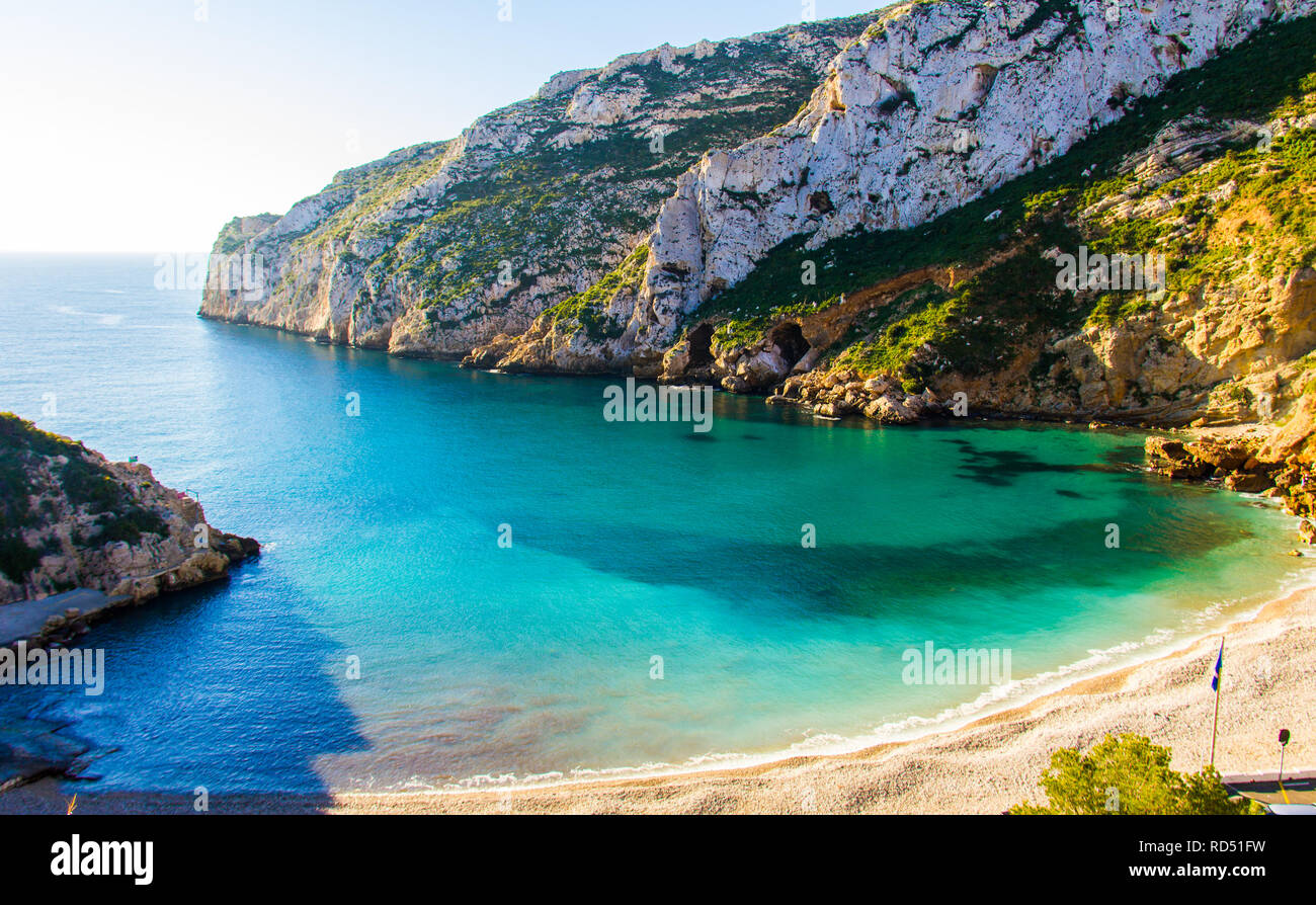 La Granadella Beach In Javea Spain On A Sunny Day Stock Photo Alamy