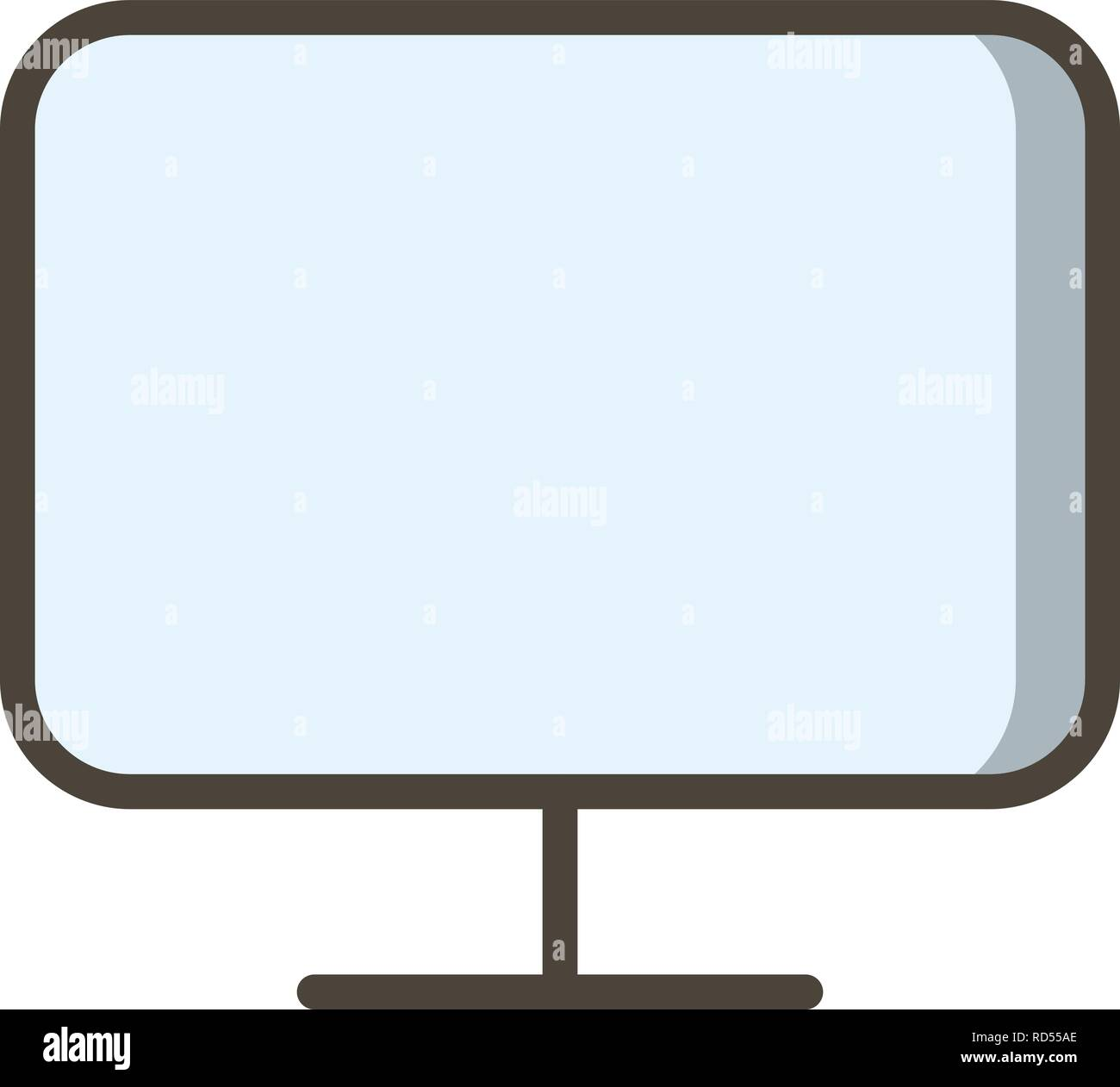 Monitor Sign Icon Vector Illustration For Personal And Commercial Use... Clean Look Trendy Icon... - Stock Image
