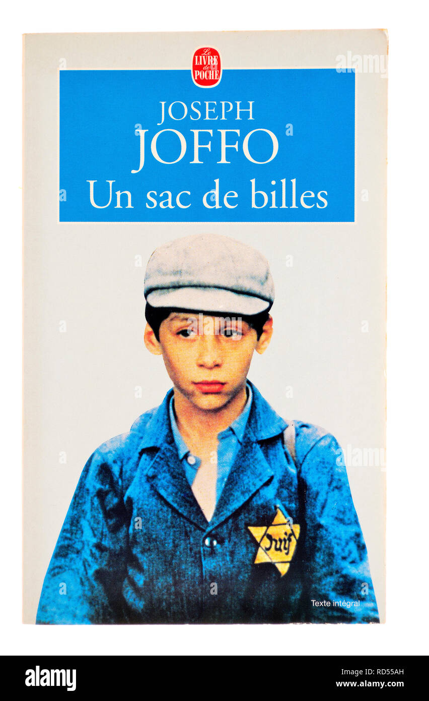 Un Sac de Billes (Joseph Joffo: 1973) A Bag of Marbles - French edition. Autobiographical novel about a Jewish boy's experiences in wartime France - Stock Image