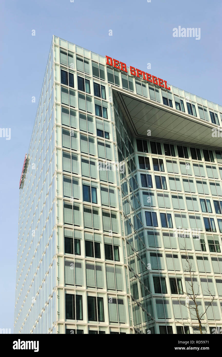 Reflecting publishing house in Hamburg, uncovered case of fraud with the reflecting magazine, Spiegel-Verlagshaus in Hamburg, aufgedeckter Betrugsfall Stock Photo