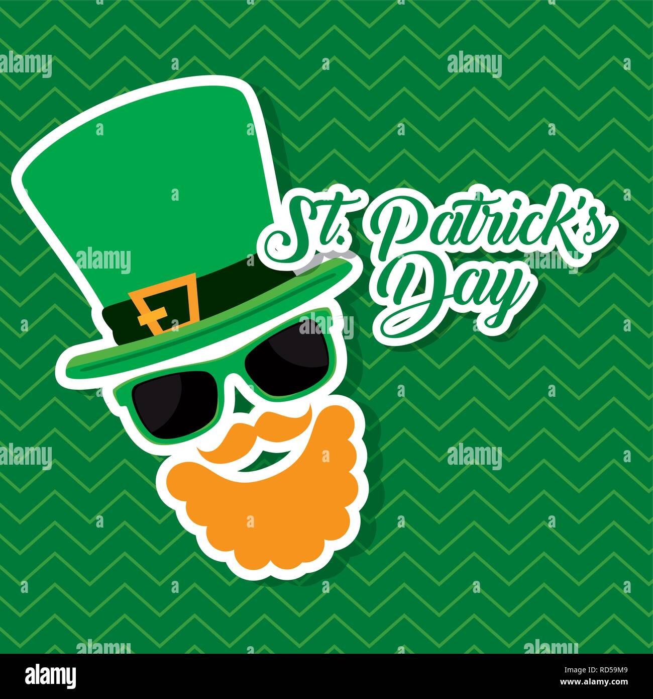 st partick celebration with hat and beard - Stock Image