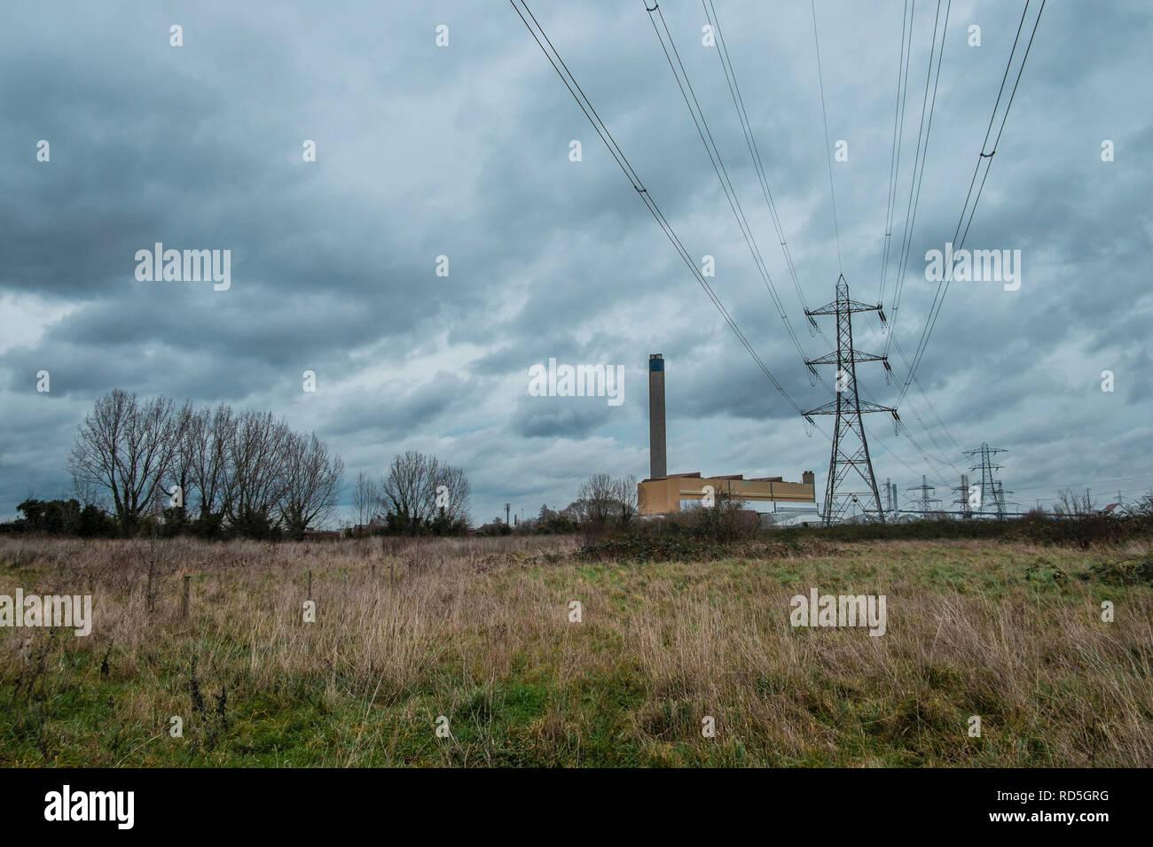 Littlebrook coal-fire power station, Dartford, Kent UK - Stock Image