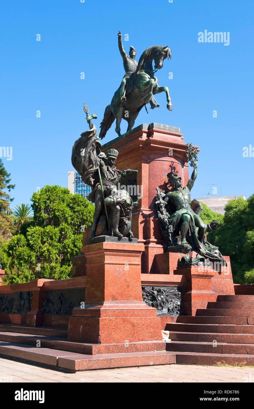 Plaza San Martin, General San Martin monument, Buenos Aires, Argentina, South America - Stock Image