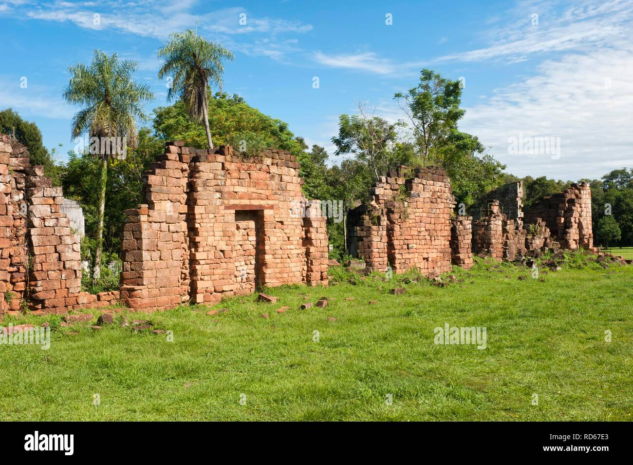Ruins of the Jesuit mission at Santa Ana, Misiones Province, Argentina, South America - Stock Image