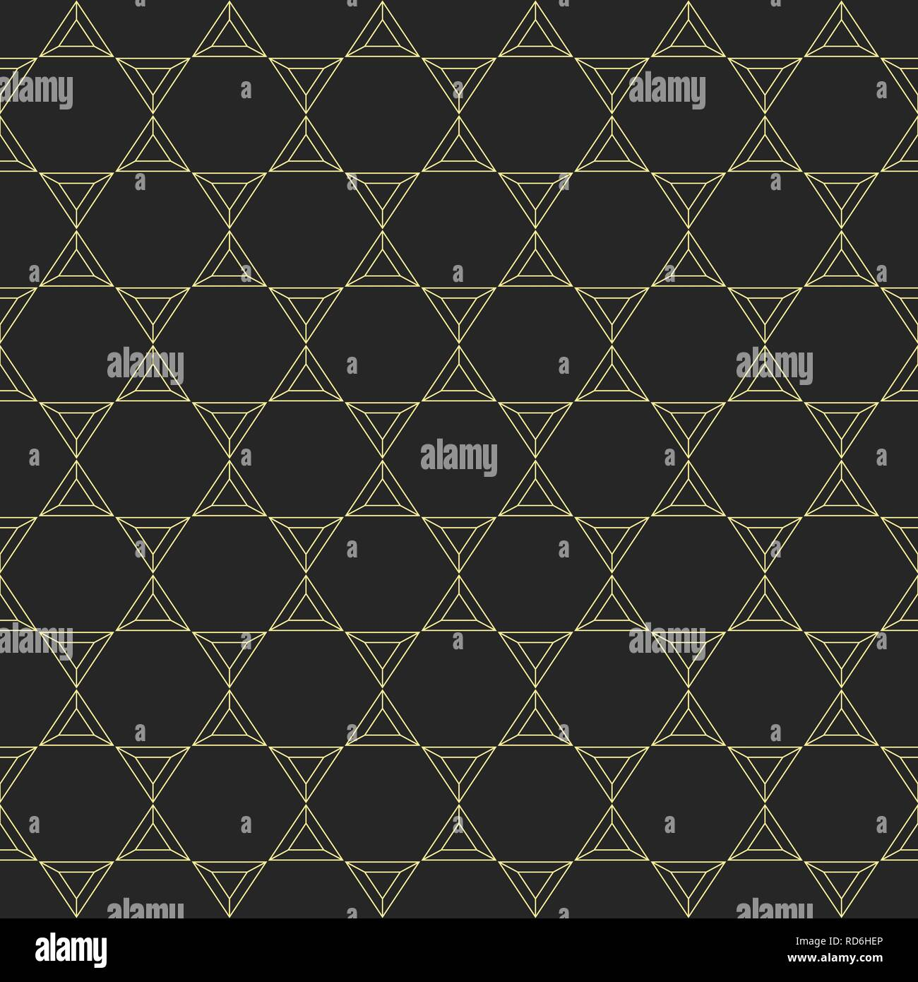 Abstract seamless pattern made from linear triangles. Contemporary graphic design. Vector background. Stock Vector