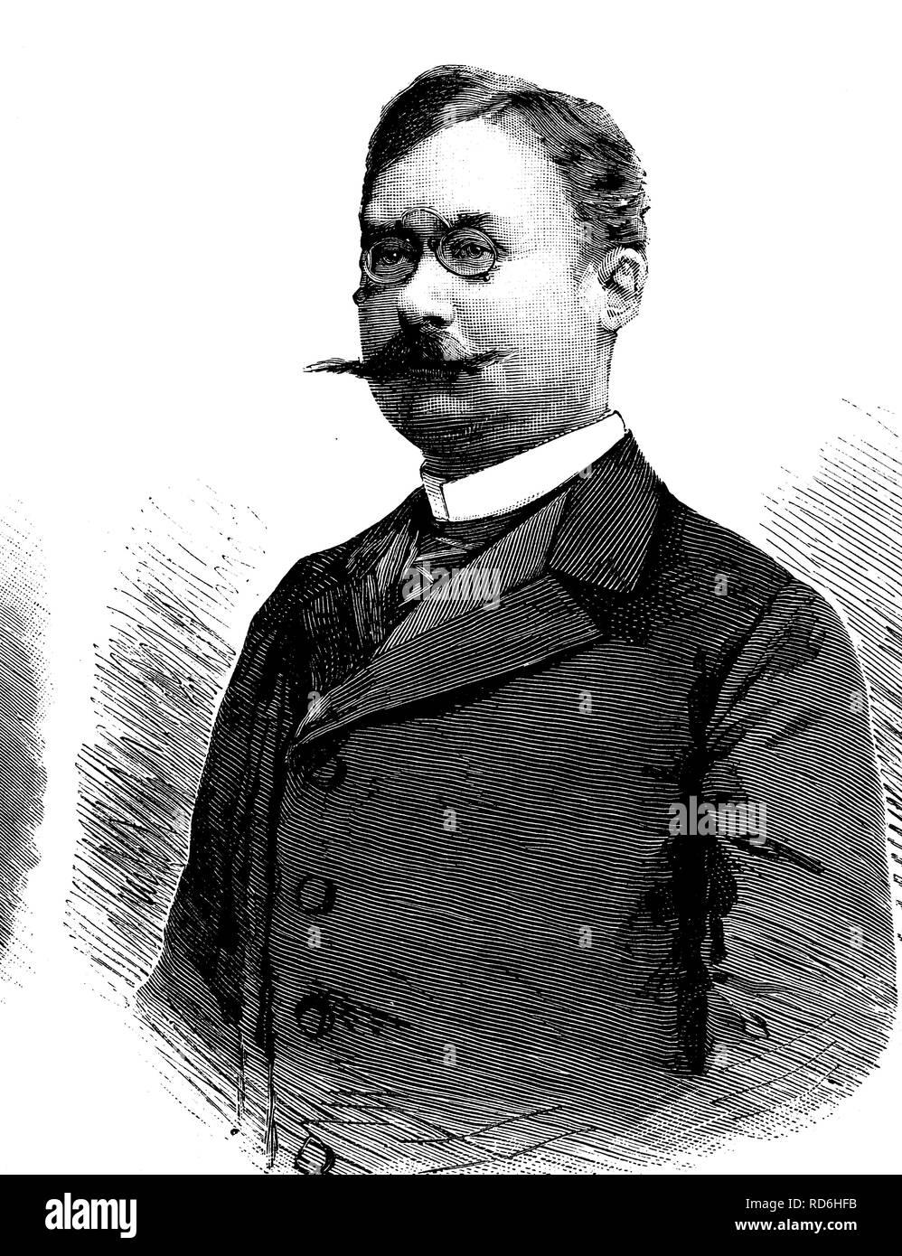 William IV, Grand Duke of Luxembourg, 1852 - 1912, historical illustration circa 1893 - Stock Image