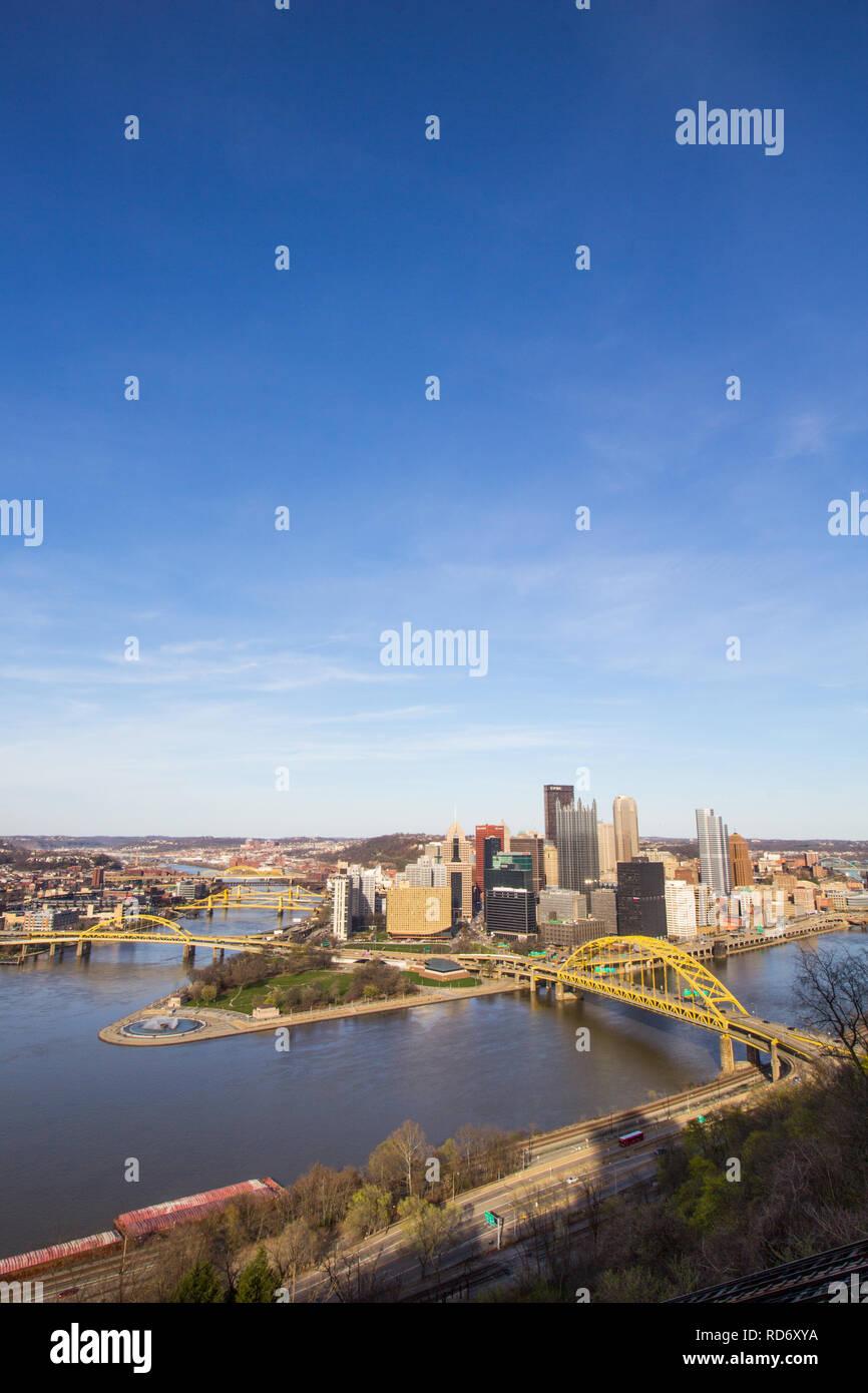Downtown Pittsburgh, Pennsylvania - Stock Image