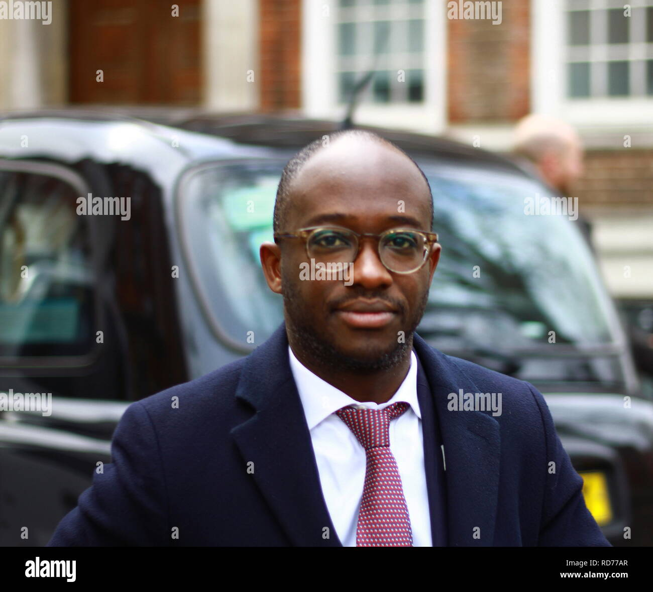 Sam Gyimah Minister of State for Universities, Science, research and innovation in Westminster on 15th January 2019. Conservative party politician MP for East Surrey 2010. Was Parliamentary Private secretary to the Prime Minister David Cameron. British politics. - Stock Image