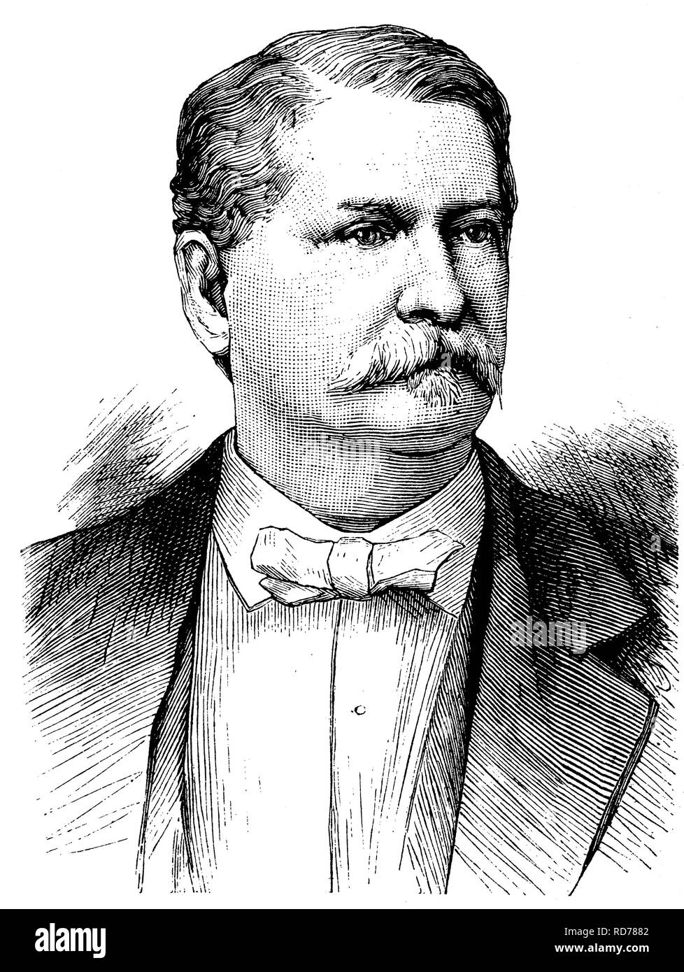 Winfield Scott Hancock, 1824-1886, Major-General of the U.S. Army, Democratic candidate for the US Presidential elections - Stock Image
