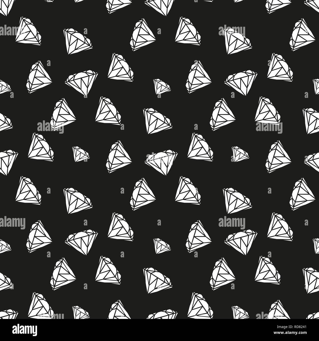 Diamonds Seamless Pattern Vector Pattern With Diamonds