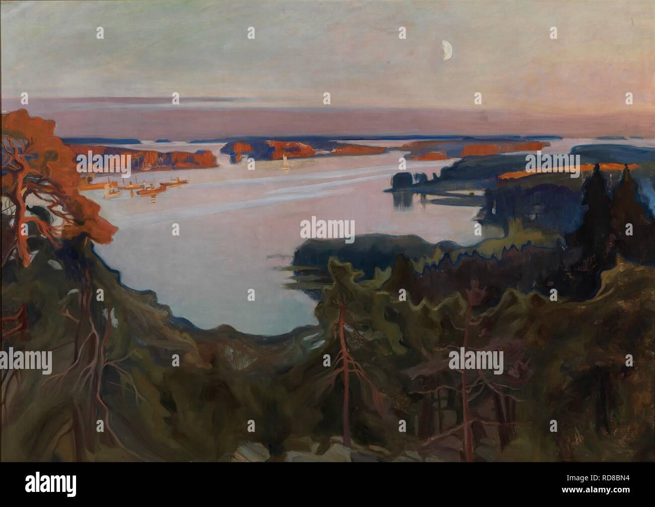 View over Haikko. Museum: Ateneum, Helsinki. Author: Edelfelt, Albert Gustaf Aristides. Stock Photo