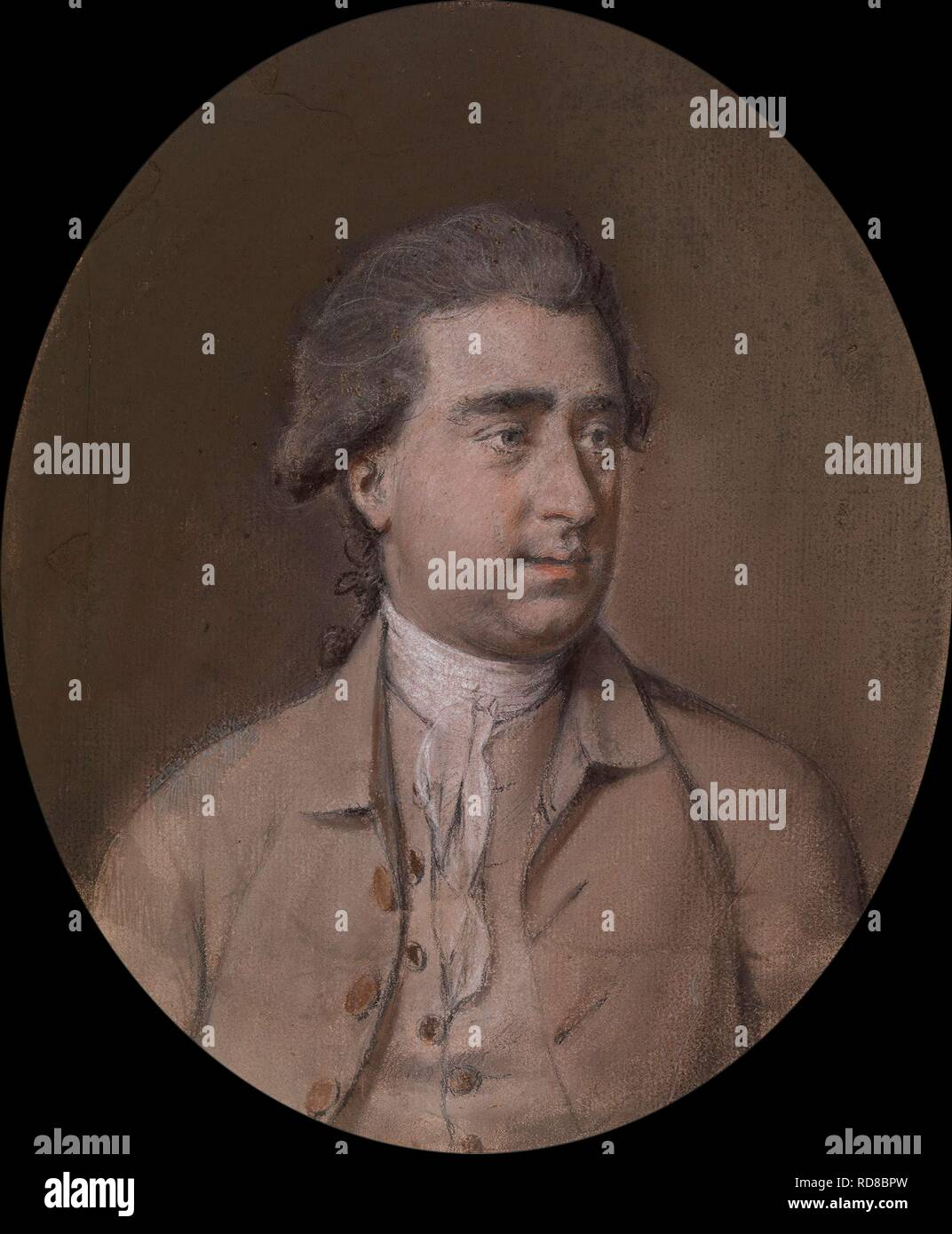 Charles James Fox (1749-1806). Museum: PRIVATE COLLECTION. Author: Hamilton, Hugh Douglas. - Stock Image