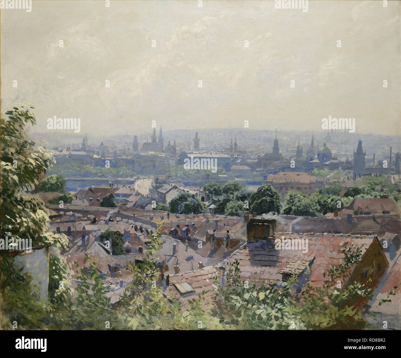 33ed9968150296 View of Prague. Museum: PRIVATE COLLECTION. Author: Oliva, Viktor ...