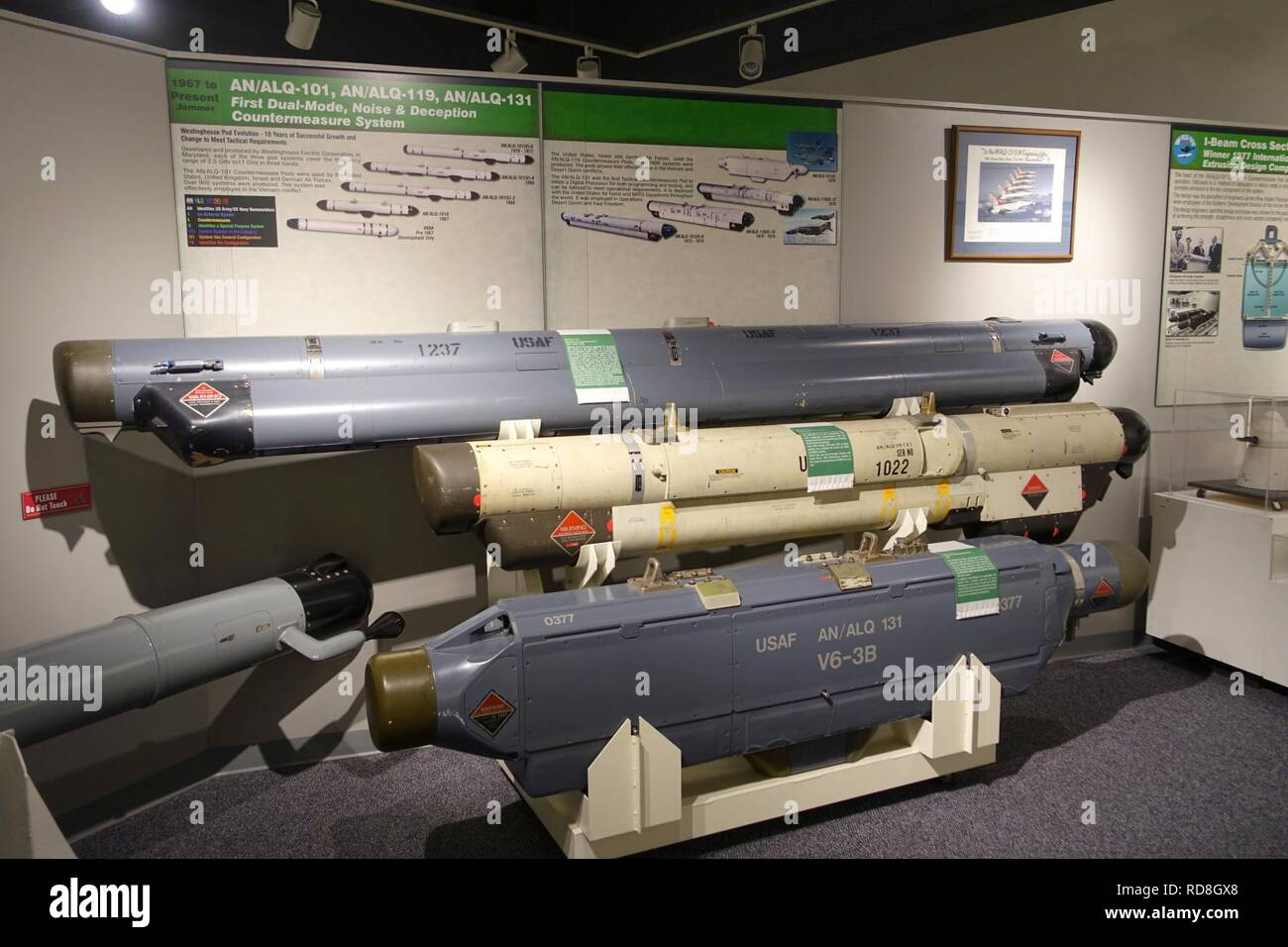 AN-ALQ-101, AN-ALQ-119, and AN-ALQ-131 dual-mode, noise and deception countermeasure systems - - Stock Image