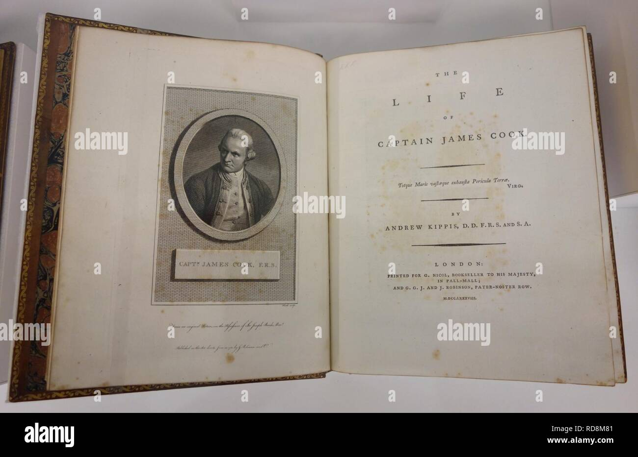 Andrew Kippis 1725-1795, The life of Captain James Cook, London, printed for G. Nicol and G.G.J. and J. Robinson, 1788, view 1 - Royal Ontario - Stock Image