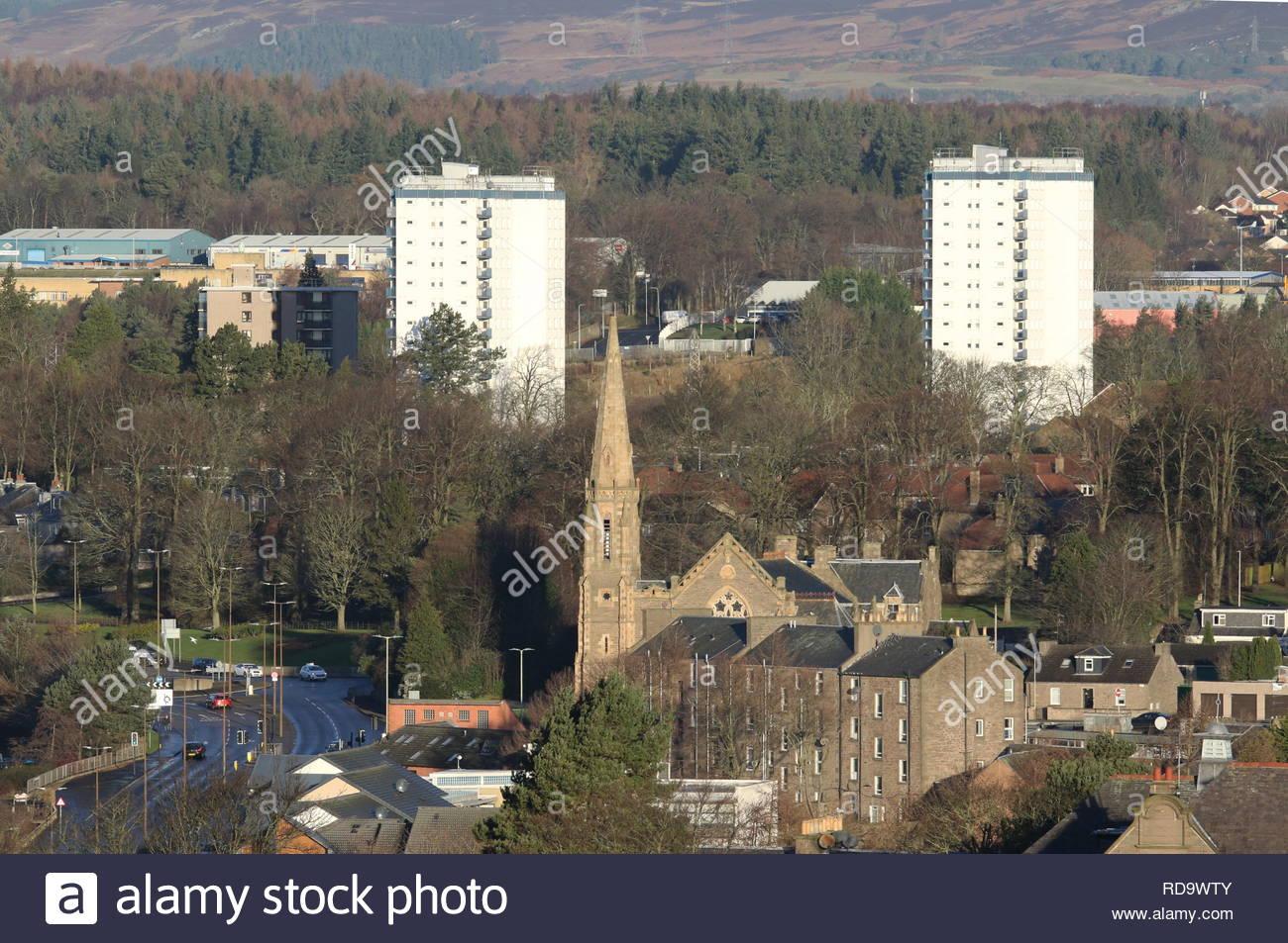 Lochee Parish Church Dundee Scotland  January 2019 - Stock Image