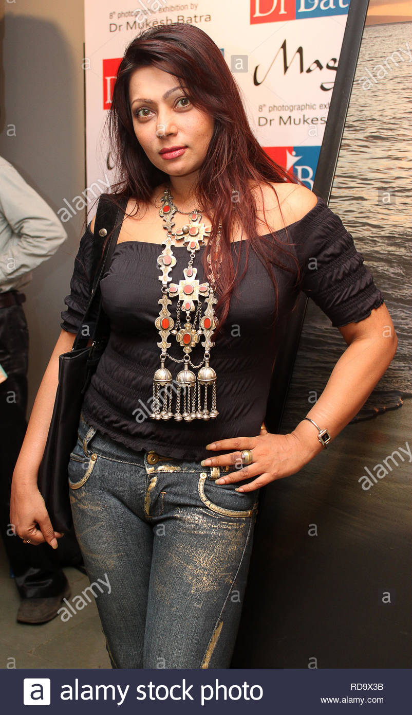Bollywood actress Ananya Dutta at the inauguration of Homeopath Dr Mukesh Batra's (not in picture) 8th annual charity photgraphy exhibition in Mumbai, India on September 13, 2012. (SOLARIS IMAGES) Stock Photo