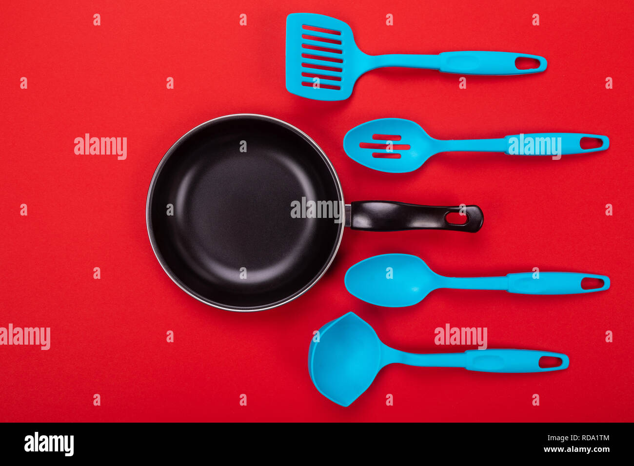 Kitchen utensils for cooking in kitchen isolated with ...