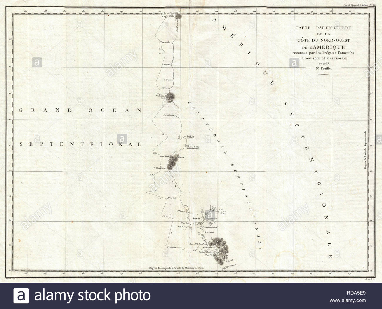 Map Of California To Oregon.1786 La Perouse Map Of San Francisco Monterey Bay California And