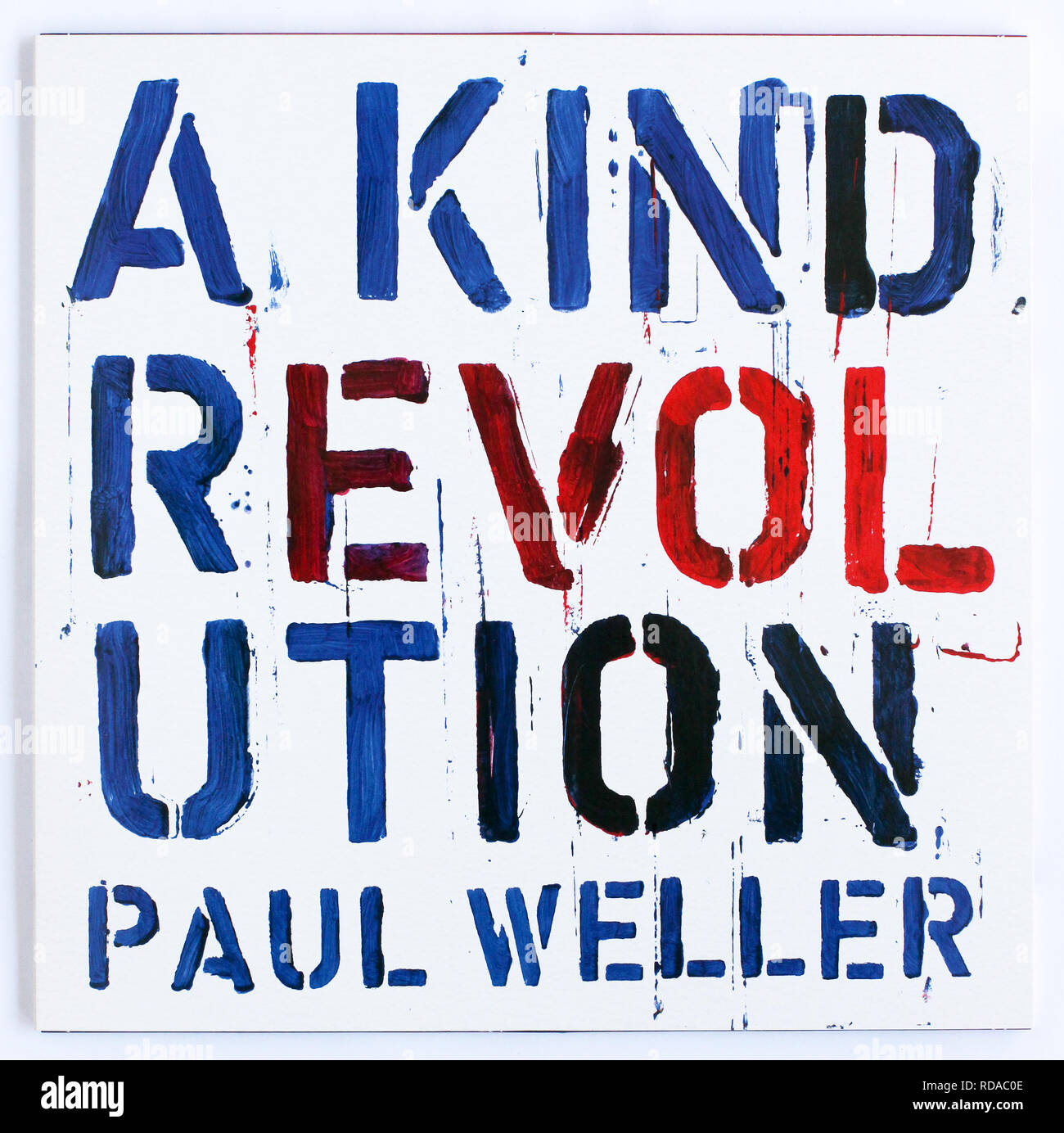 The cover of A Kind Revolution by Paul Weller. 2017 album on Parlophone Records - Stock Image
