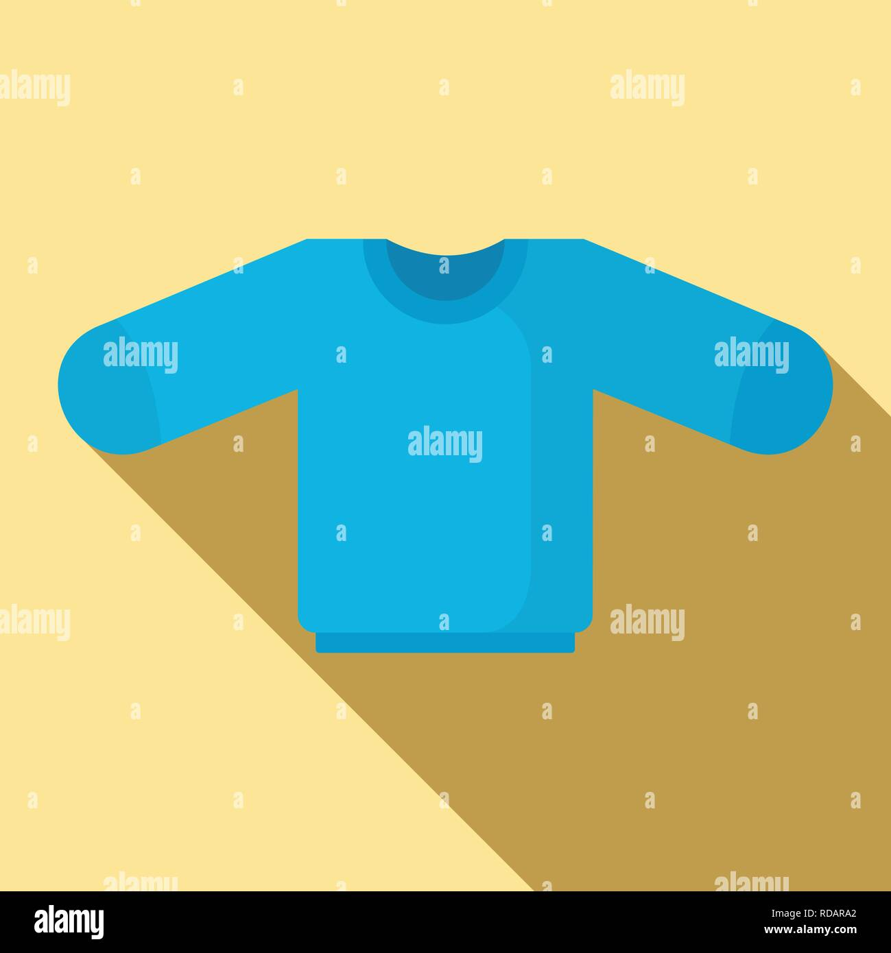 Baby sweater icon. Flat illustration of baby sweater vector icon for web design - Stock Vector