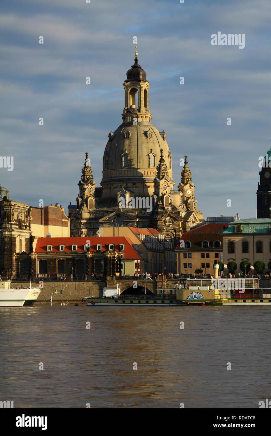 High water in Dresden - Stock Image