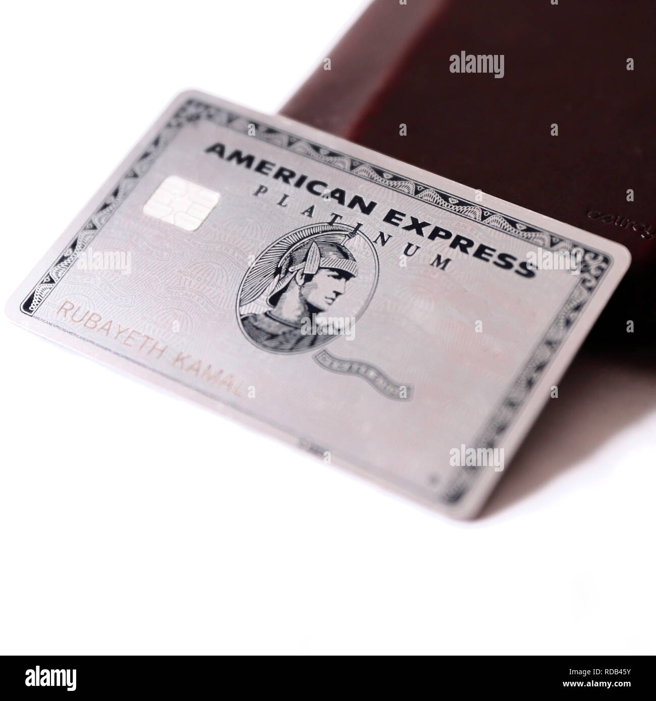 Platinum silver american express card Stock Photo: 231970087