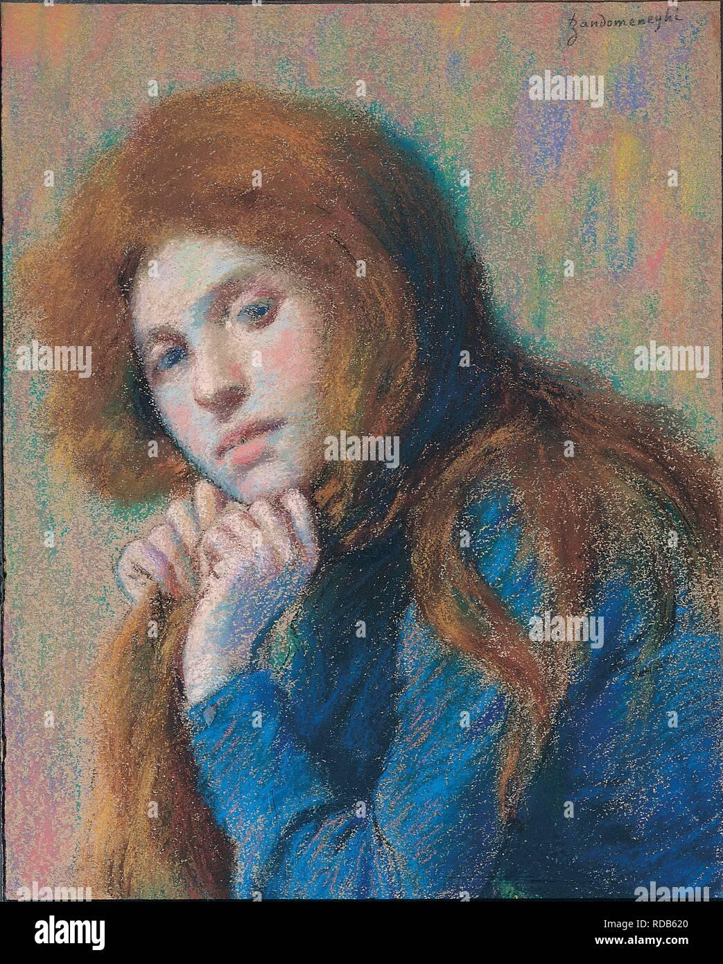 Matilde. Museum: PRIVATE COLLECTION. Author: ZANDOMENEGHI, FEDERICO. - Stock Image