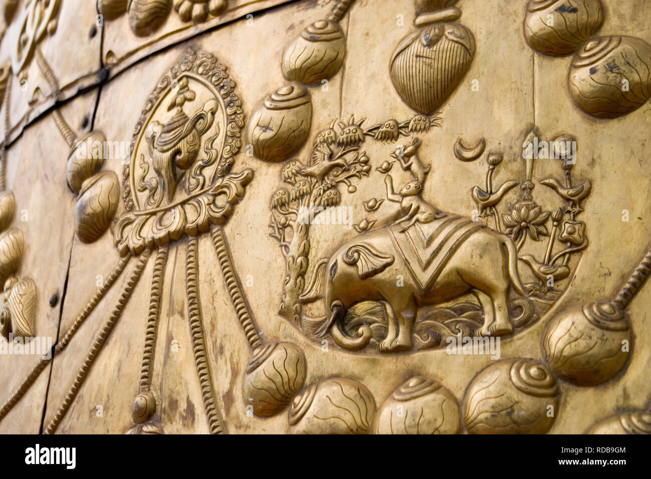 Part of a stupa Lhasa Tibet - Stock Image