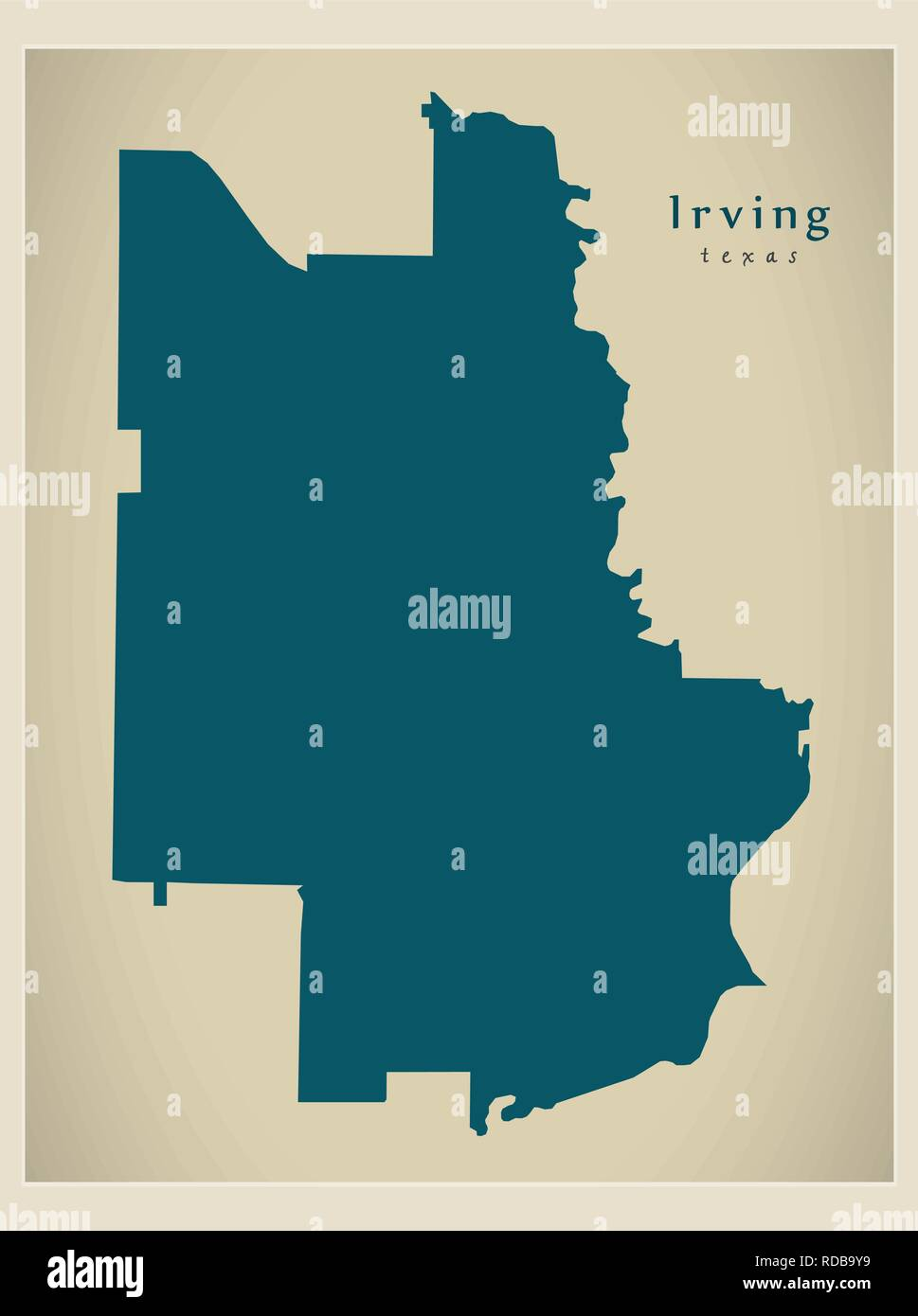 Map Of Texas City.Modern City Map Irving Texas City Of The Usa Stock Vector Art