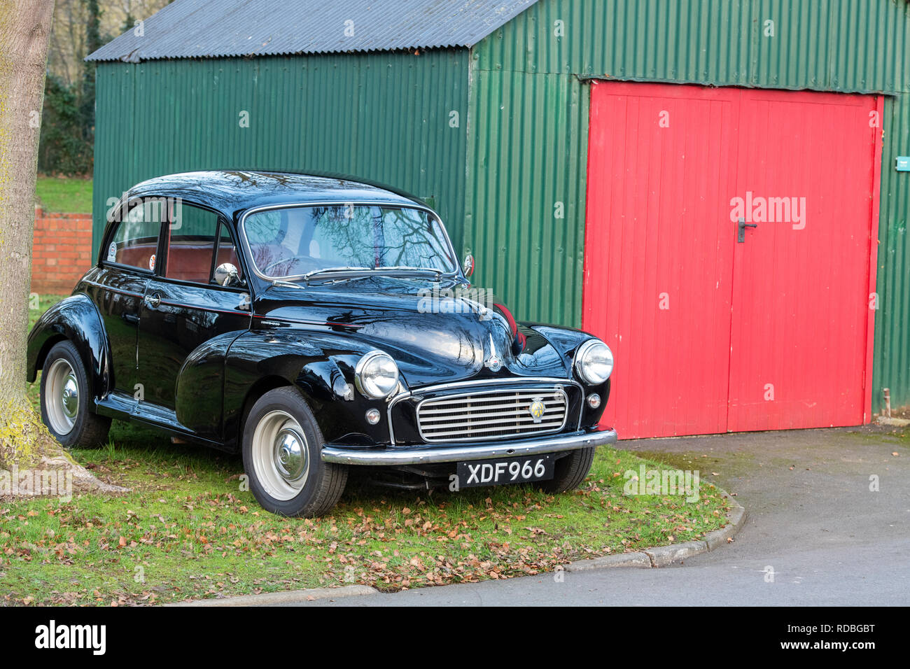 1959 Morris minor 1000 car at Bicester heritage centre, Oxfordshire, England - Stock Image