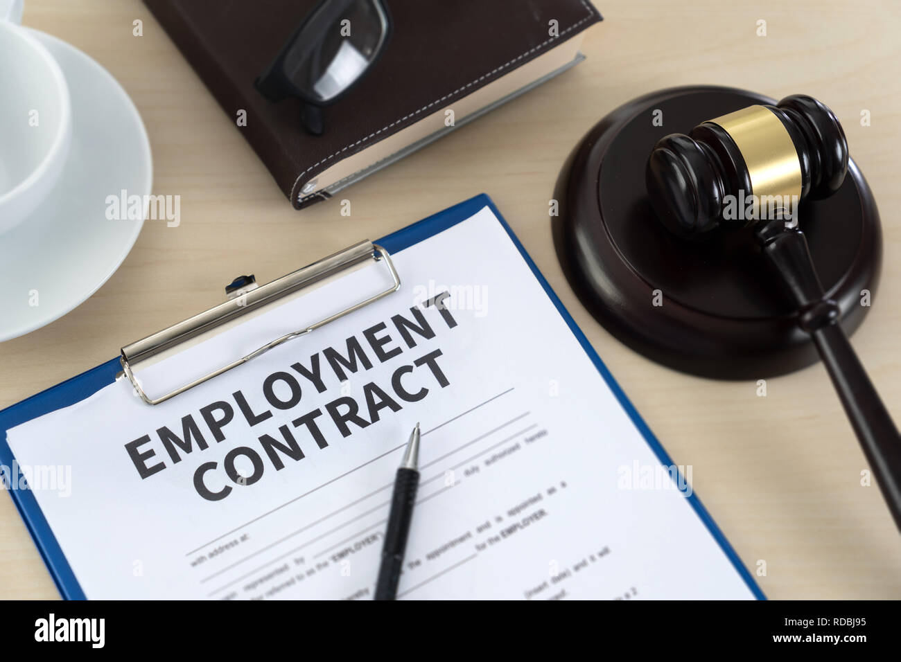 employment law  job legal education - Stock Image