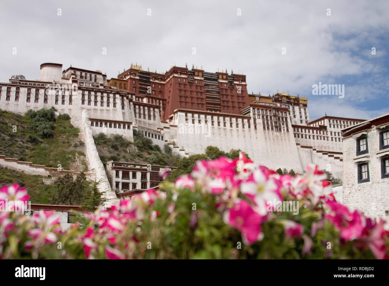 Potala place in Lhasa Tibet - Stock Image
