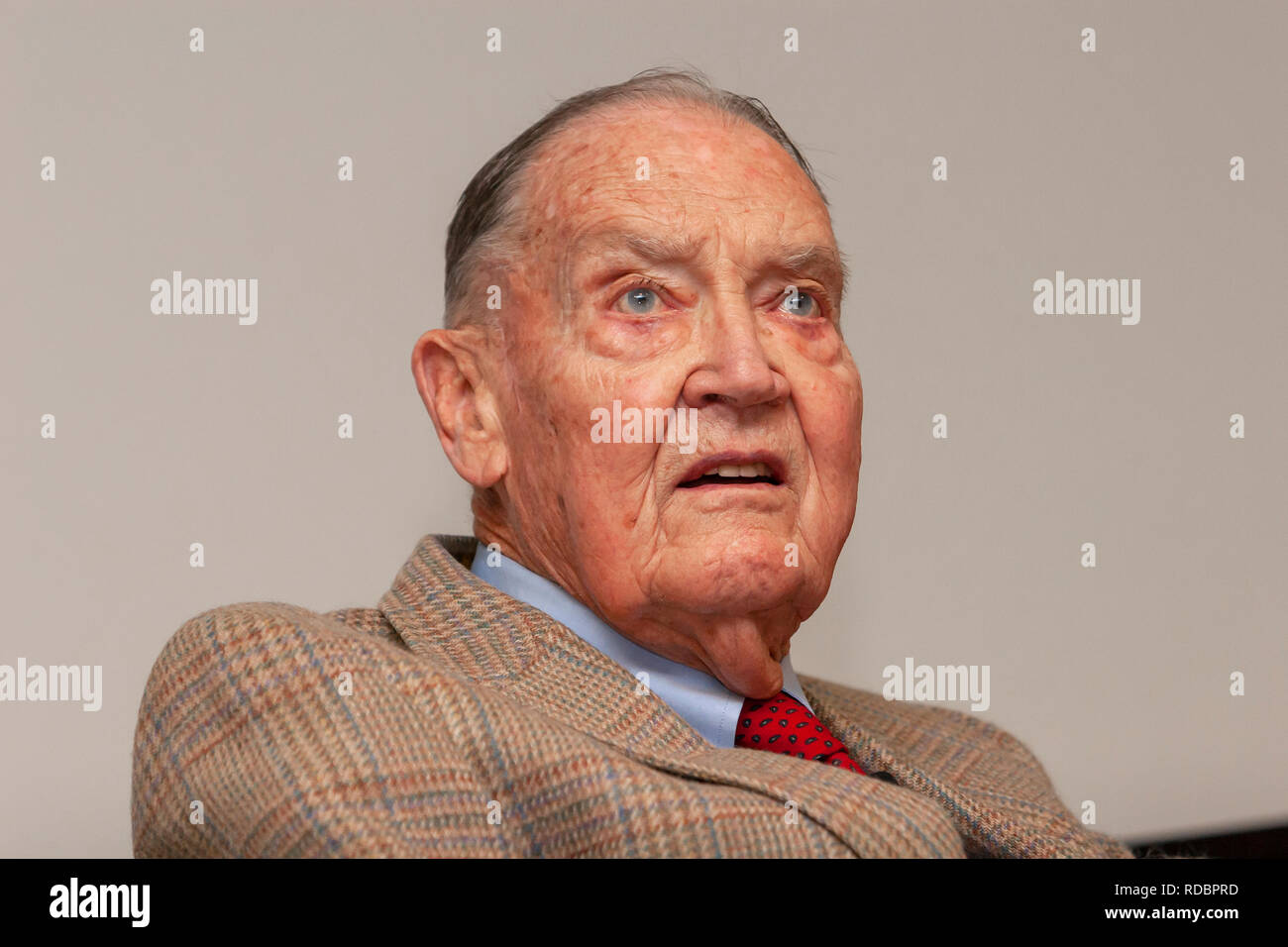 John Bogle (Jack Bogle), the founder of Vanguard Group Inc., a mutual fund investment company. - Stock Image