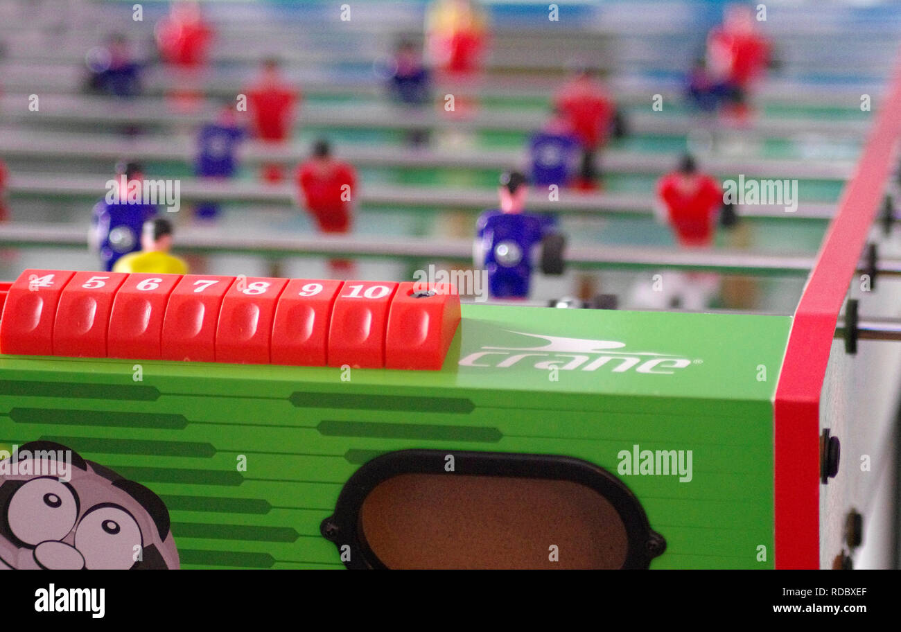Crane Table Football or Soccer Game - Stock Image