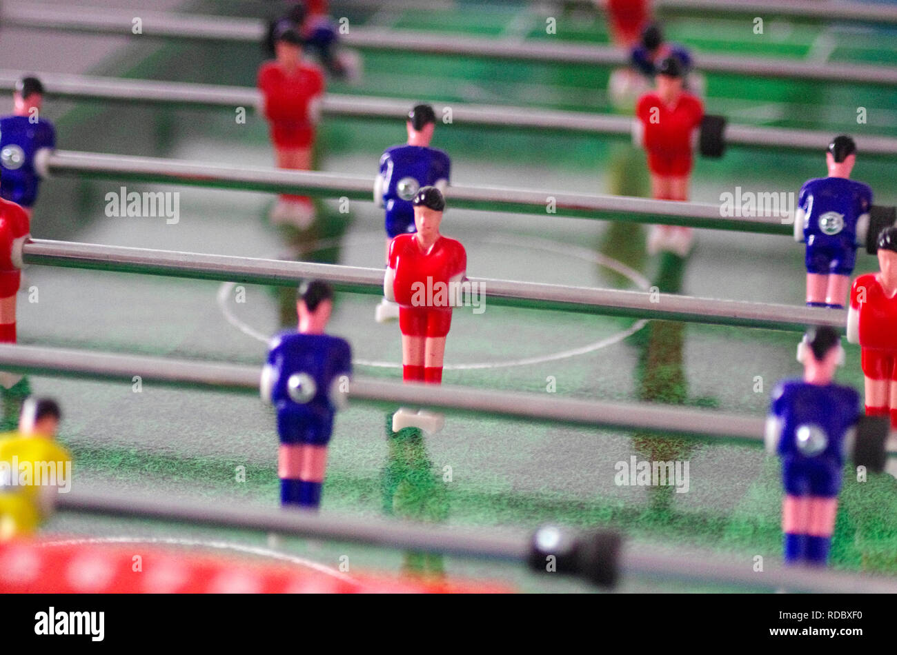 Table Football or Soccer Game - Stock Image