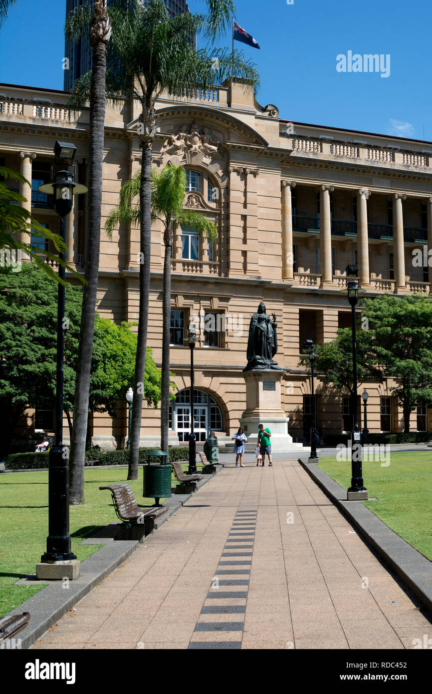 Queens Gardens and Land Administration Building, Brisbane, Queensland, Australia - Stock Image