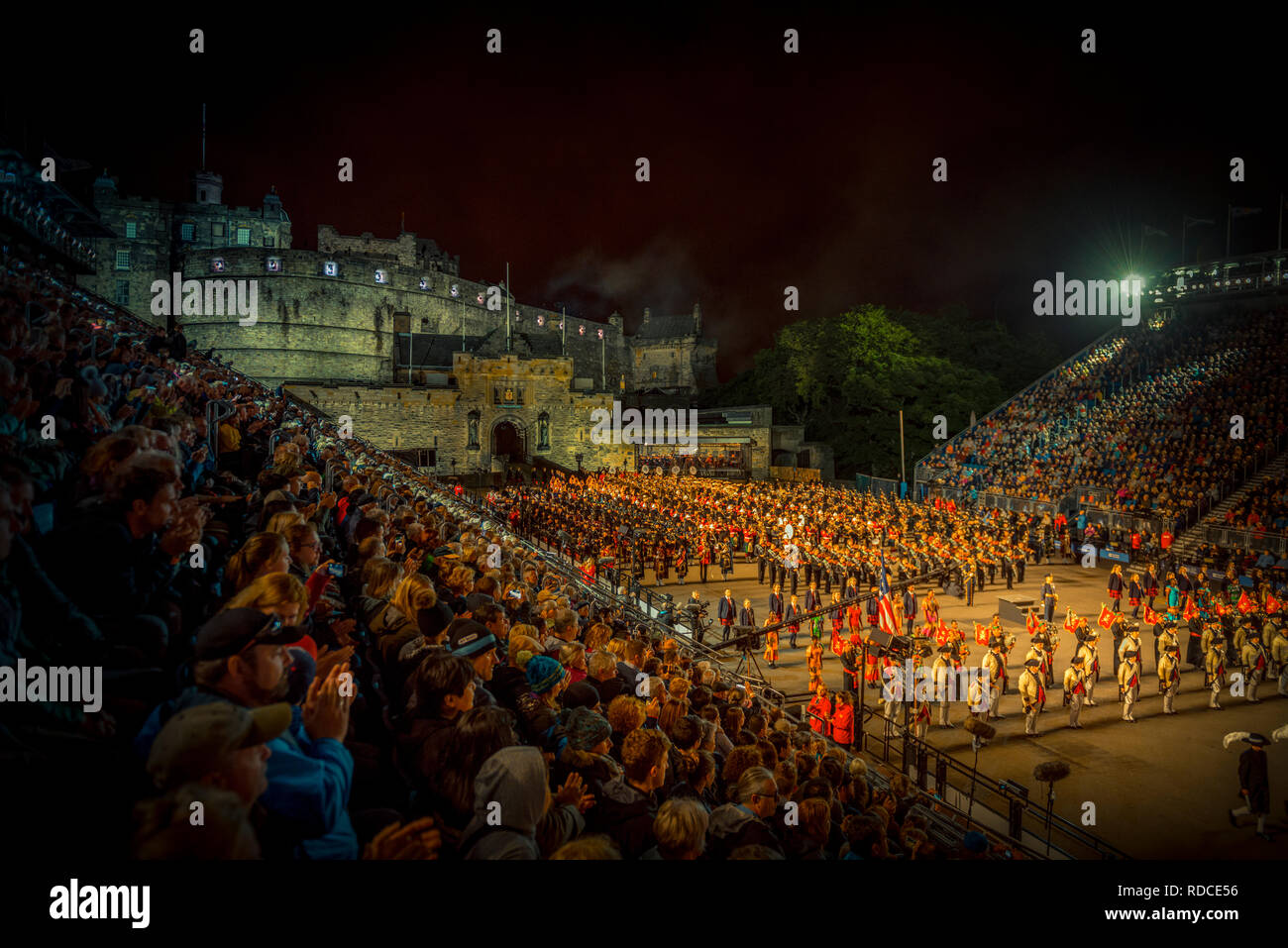 Europa, Großbritannien, Schottland, Edinburgh, Castle, Schloss, Royal Edinburgh Military Tattoo Stock Photo
